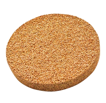 2.500in Diameter Bronze Porous Stone, 0.25in Thick