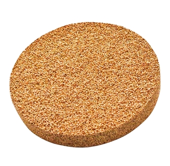2.000in Diameter Bronze Porous Stone, 0.125in Thick