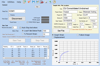 Triaxial Data Acquisition Software